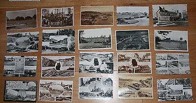 45 Vintage Black & White Photo Postcards of England. Used.