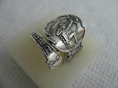 ANTIQUE Sterling Silver spoon RING s 6 3/4 NOVEMBER Zodiac #5104