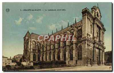 CPA Chalons Sur Marne La Cathedrale