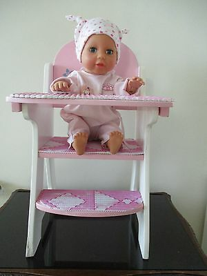 Beautiful Dolls low Chair from Hamleys and a Zapf Walking Crawling doll