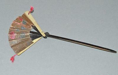 Old Bookmark In The Form Of A Usable Fan.