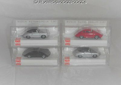 4 Busch Germany Ho Scale 1/87 Porsche 356 Cars Plastic Case