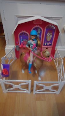 Barbie in a PonyTale :   Deluxe riding stables+accessories