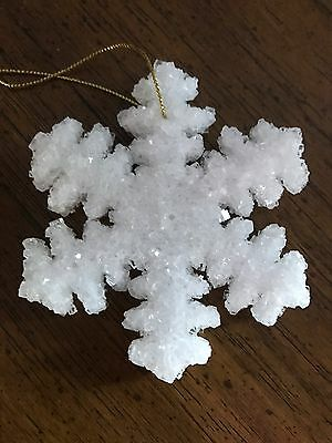 Unique Christmas Snowflake Ornament From Great Salt Lake In Original Box 1984