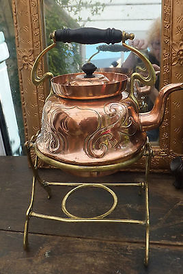 Art Nouveau Townsends Copper Tipping Kettle Patent Design Swirling Design 1899