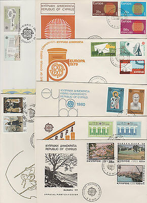 Cyprus FDC 1970 to 1987 Europa cept  - 7 covers