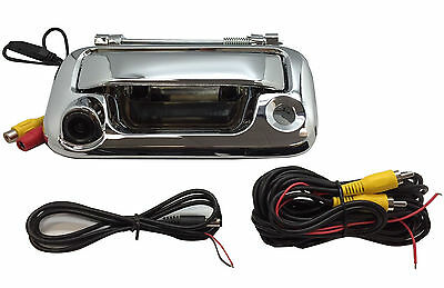 Ford F150 F250 F350 CHROME Tailgate Backup Camera Handle 2005-2014  Color CCD