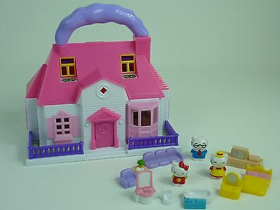 Blue Box Toys Hello Kitty By Sanrio Miniature House With Furniture & 3 Figures