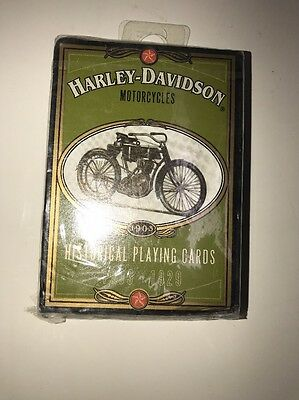 1997 Harley Davidson Motorcycle Historical Playing Cards 1903-1929 Made In USA