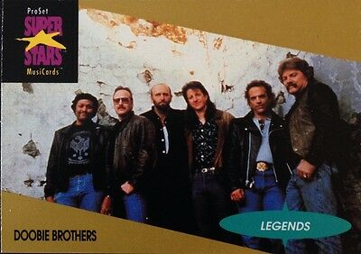 The Doobie Brothers Proset Superstar Musicards 1St Edition Card Rare Oop (1991)
