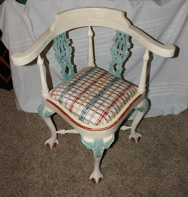 Antique Corner Chair. Painted. Shipping Option or Pick Up