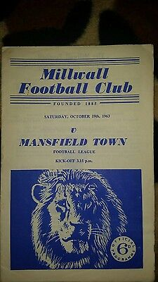 Millwall v Mansfield town division 3 1963