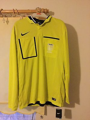 Nike Referee Shirt Long Sleeve Jersey FA Embroidery Badge Brand New XL