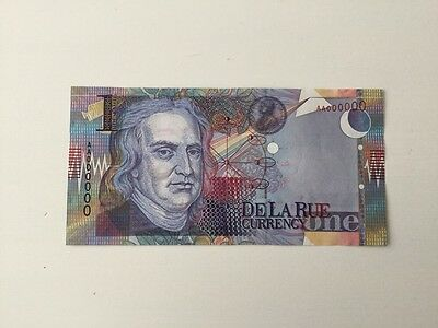 Newton 'De La Rue Currency' Space Station Space Craft On Reverse 1 Housenote