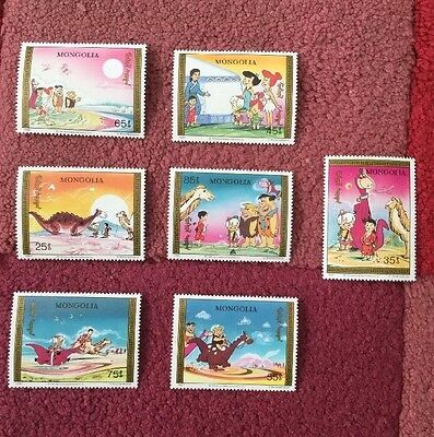 Mongolia Stamps 1991 unmounted mint / never Used the Flintstones Hannah Barbera