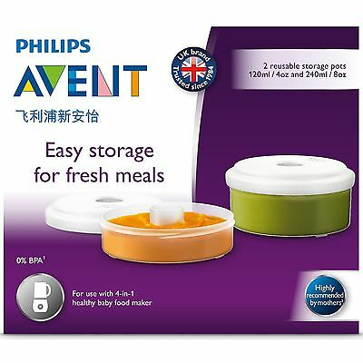 Avent Fresh Food Storage Pots For 4 In 1 Healthy Baby Food Maker