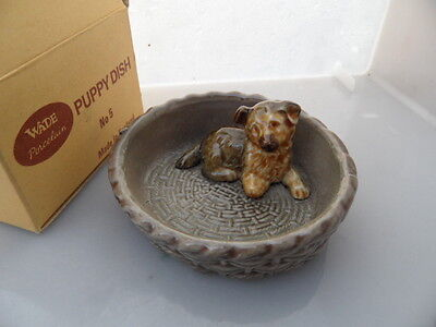 WADE    Puppy Dish or Tray  No 5  TERRIER?  Boxed  VINTAGE ITEM   PERFECT