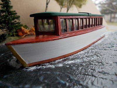 HO Scale 38 Gas Launch Kit (tour boat) by Railway Recollections