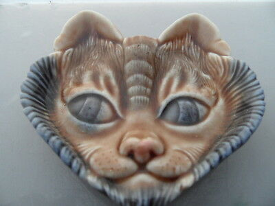 WADE    Cat Face  WALL HANGING Pin or Trinket Dish Tray  VINTAGE ITEM   PERFECT