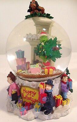 "Large 9"" Dr. Seuss How the Grinch Stole Christmas Snow Globe Snowglobe"