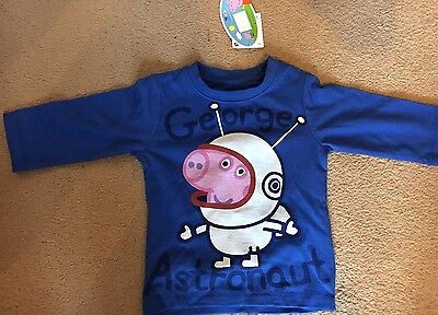 Next Baby Boys Peppa Pig Long Sleeve Top Brand New With Tags 3-6months