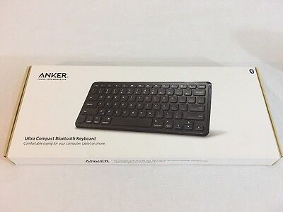 Anker Ultra Compact Slim Profile Wireless Bluetooth Keyboard iOS Black
