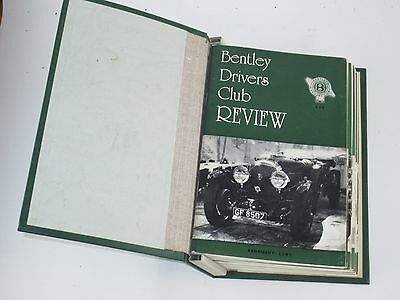 The Bentley Drivers Club Review 12 issues in B.D.C bound holder 1981-83 #139-50