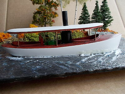 HO Scale 42 foot Steam Launch Kit (tour boat) by Railway Recollections