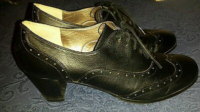 Womens Array Ankle boots Sz 10 N Narrow Black Leather Shoes Heels
