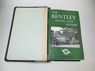 The Bentley Drivers Club Review 12 issues in B.D.C bound holder 1956-59 #40-54