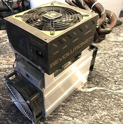 Used Bitmain Antminer S7-LN 2.7TH Low Noise Miner with Built-in Power Supply
