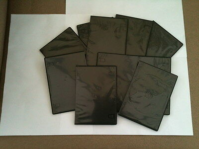 10 only Single Black 7mm Spine Slim CD DVD Blueray Cases Storage Sleeves
