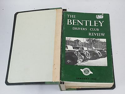The Bentley Drivers Club Review 12 issues in B.D.C bound holder 1963-1965 #67-78