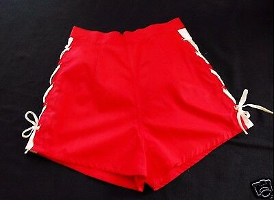 VTG 50's Lace Side SHORTS! VLV/ Rockabilly/Pinup  Metal Zip/ Made in Japan !