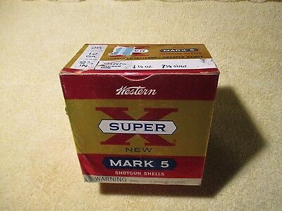 Vintage shot shell box   EMPTY  Western Super X