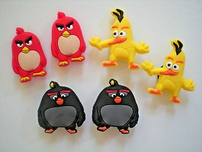 Jibbitz Croc Clog Shoe Plug Button Charm Accessorie Belt WristBand 6 Angry Birds
