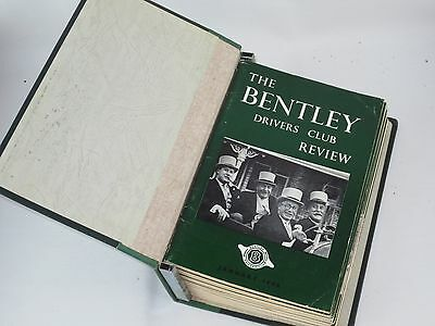 The Bentley Drivers Club Review 12 issues in B.D.C bound holder 1966-68 #79-90