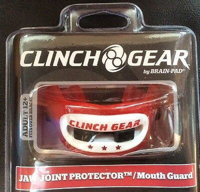 New Clinch Gear By Brain Pad Double Mouth Guard With Case