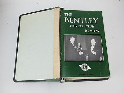The Bentley Drivers Club Review 12 issues in B.D.C bound holder 1960-62 #55-66