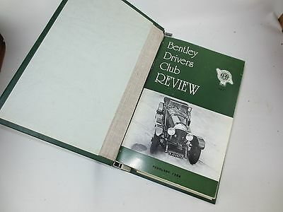 The Bentley Drivers Club Review 12 issues in B.D.C bound holder 1984-86 #151-162