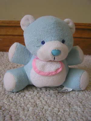 Luckey Bell SOFT PLUSH BLUE BABY BEAR RATTLE