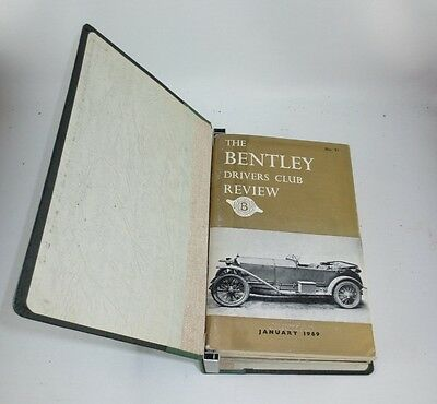 The Bentley Drivers Club Review 13 issues in B.D.C bound holder 1969-71 #91-102+