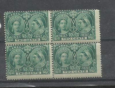 G41) Canada 52 Mint Never Hinged Block Of4. 2Cent Jubilee