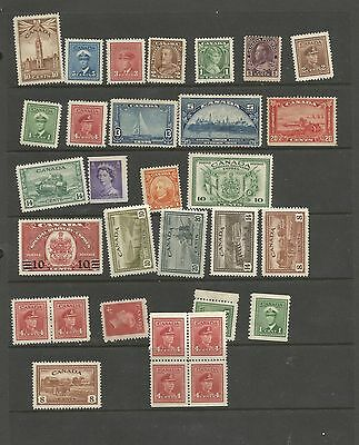 H12) Canada Stock Sheet With Mint Hinged Older Canada