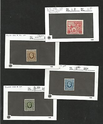 H66) Great Britain Mint Stock On Cards 1924-193 Scott $240