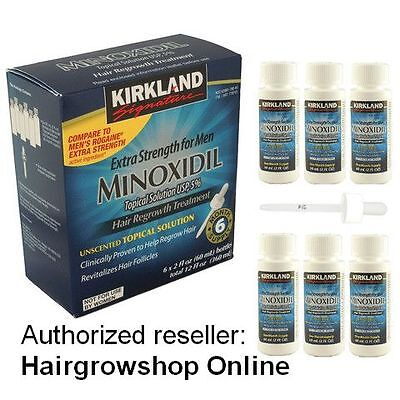 Kirkland Minoxidil 5% Topical Solution Hair Regrowth Treatment 6 Month or more