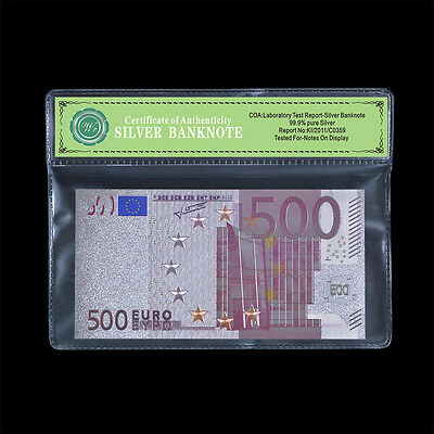 WR Colored 500 Euro European Union Banknote Silver Collectible Gift 1:1 Details