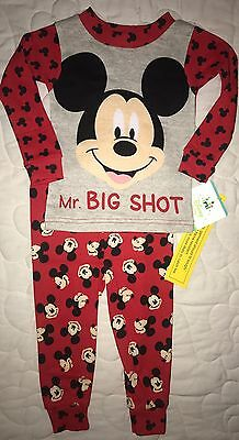 NEW Boys Size 9 Months Disney Baby Mickey Mouse  Pjs Lightweight Pajamas