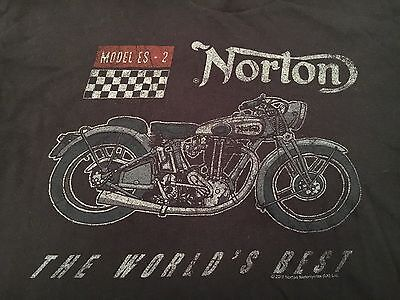 "Norton Motorcycles 2012 Black T-Shirt SZ Large ""The World's Best"""
