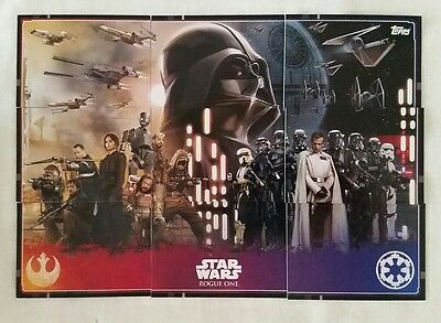 Topps UK Star Wars Rogue One Puzzle cards 120 - 128